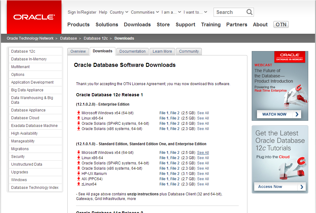 Download_Oracle_Database_Media